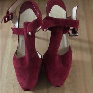 Great condition Christian Louboitin red heels